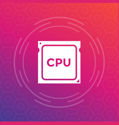 Cpu processor icon vector