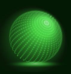 Cyber sphere green big data sphere vector
