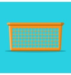 Empty orange household plastic basket vector