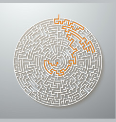 greek maze puzzle challenge with solution vector image vector image