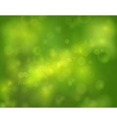 green bokeh abstract light background vector image vector image