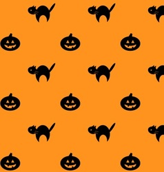 Halloween repeating background pattern vector image vector image