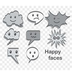 Happy faces vector