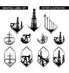 Industrial lable set vector