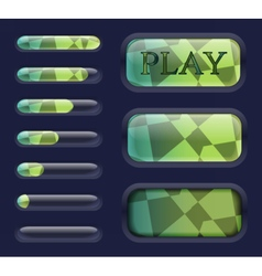 Isolated game interface elements vector