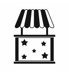Kiosk icon simple style vector