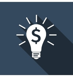 Light bulb with dollar symbol business concept vector image vector image