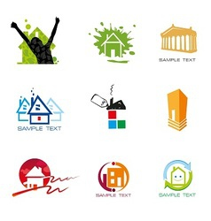Logo element real estate vector