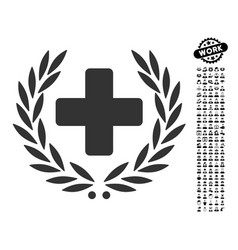 Medical glory icon with people bonus vector