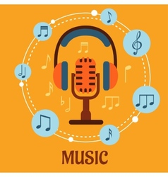 Music sound and entertainment concept vector image
