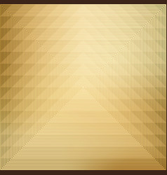 pattern geometric on gold background vector image vector image