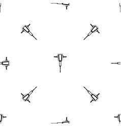 pneumatic plugger hammer pattern seamless black vector image