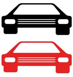 retro american car symbol vector image vector image