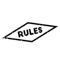 Rules rubber stamp vector