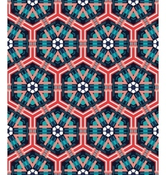 Seamless mosaic flat blue background vector image vector image