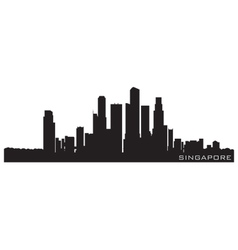 Singapore asia skyline detailed silhouette vector
