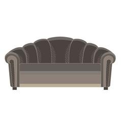 Sofa black isolated modern furniture white seat vector