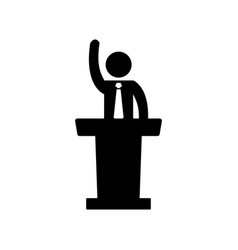speaker man icon vector image vector image