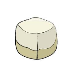 Sweet sugar cube vector