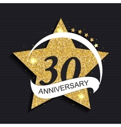 Template Logo 30 Anniversary vector image