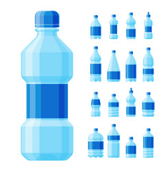 water plastic bottle transparent mineral vector image