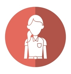 Woman paramedic worker hospital emergency with vector