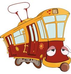 Fantastic tram vector