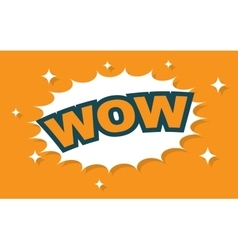 Wow wording sound effect set vector