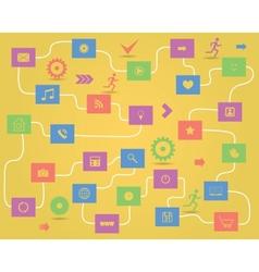 social media elements vector image