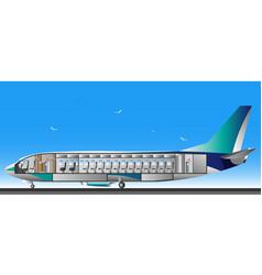 design airplane interior vector image