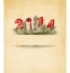 Happy new year 2014 new year design template vector