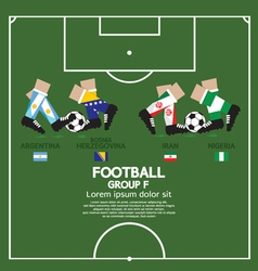 Group f 2014 football tournament vector