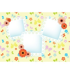 background with lace frames vector image