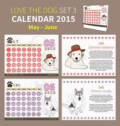 Love the dog calendar 2015 set 3 vector