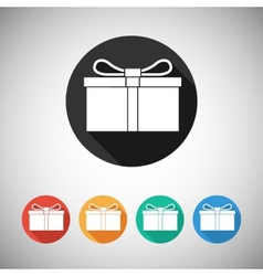 Gift box flat icons vector