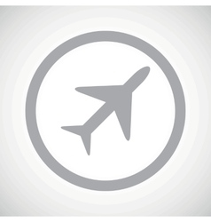 Grey plane sign icon vector