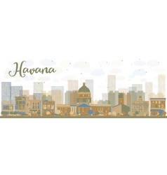 Abstract havana skyline vector