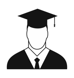 Graduate simple icon vector