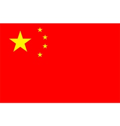 Flag of the peoples republic of china vector