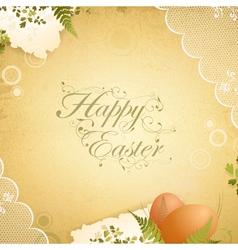 Easter vintage background vector
