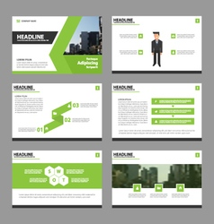 Green black annual report leaflet brochure flyer vector
