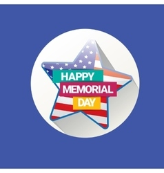 Happy memorial day banner  memorial day card vector