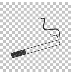 Smoke icon great for any use Dark gray icon on vector image