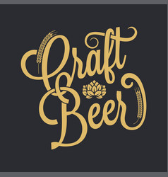 beer vintage lettering background vector image