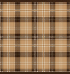 Brown tablecloth tartan plaid seamless pattern vector