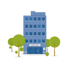 business building vector image