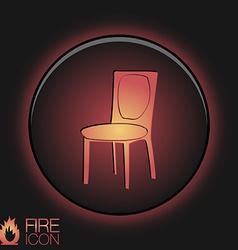 chair icon symbol furniture icon home interior vector image