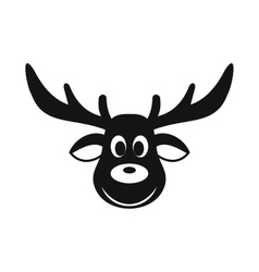 Deer christmas simple icon vector