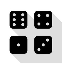 devils bones ivories sign black icon with flat vector image vector image