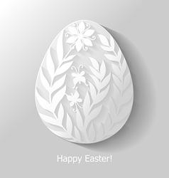 Egg floral flat vector